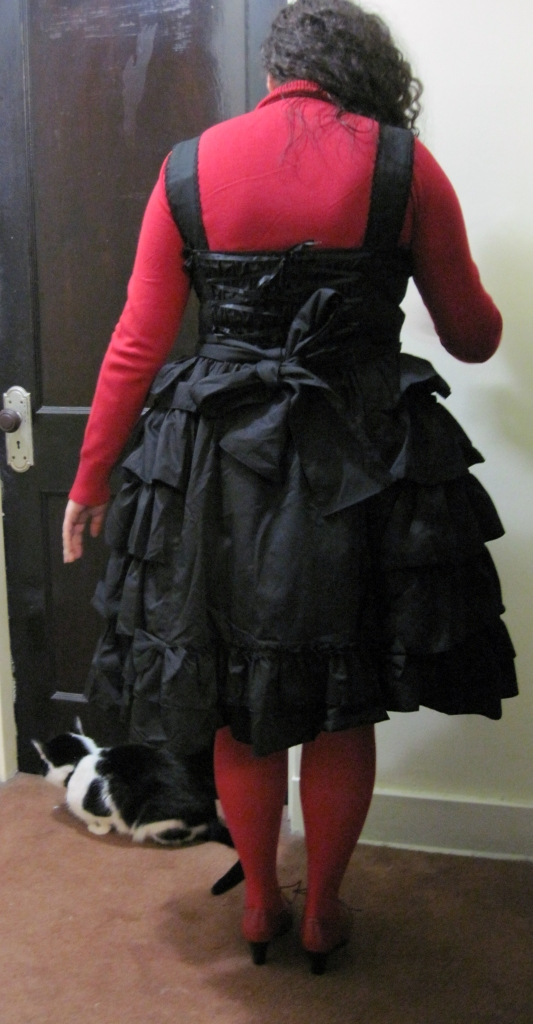 Back, with petticoat
